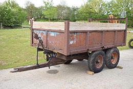 WHEATLEY twin axle dropside tipping trailer